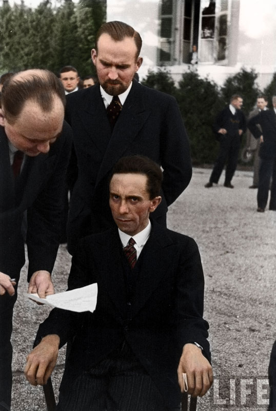 08 - Joseph Goebbels scowling at photographer Alfred Eisenstaedt after finding out hes Jewish 1933