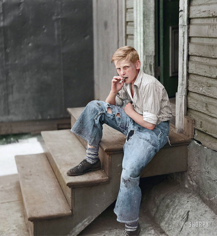 09 - Young boy in Baltimore slum area July 1938