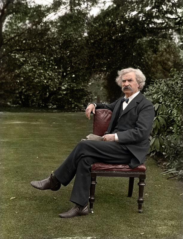 13 - Mark Twain in the garden circa 1900