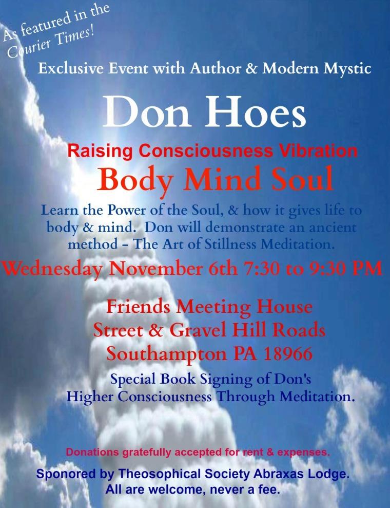 Higher Consciousness Through Meditation Exclusive Event