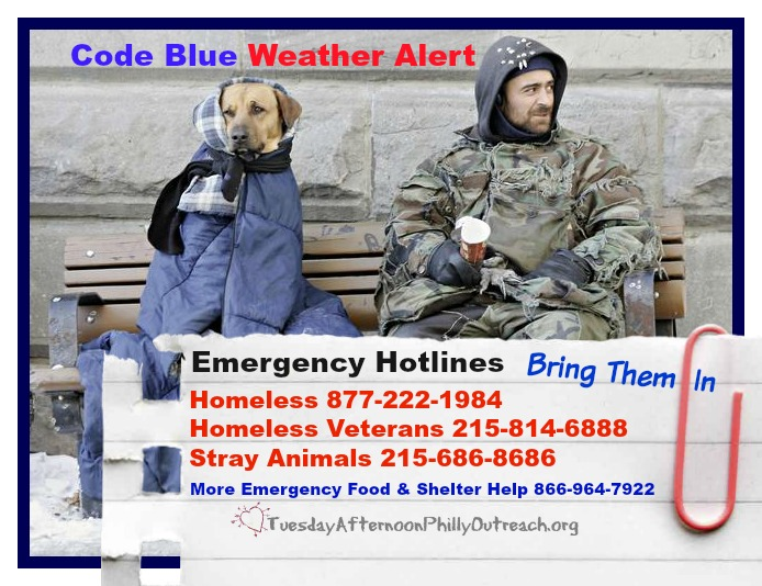 Code Blue Weather Alert